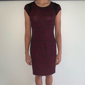Dresses & Skirts - Maroon/Faux Leather Bodycon Dress Size Medium
